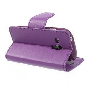 Diary PU kožené pouzdro na Samsung Galaxy S3 mini - fialové - 5