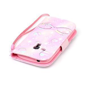 Knížkové PU kožené pouzdro na Samsung Galaxy S3 mini - láska - 5