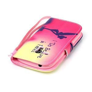 Knížkové PU kožené pouzdro na Samsung Galaxy S3 mini - víla - 5