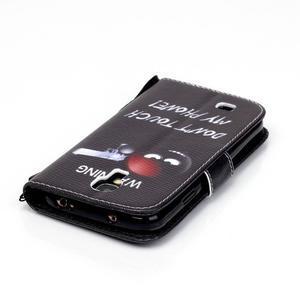 Knížkové koženkové pouzdro na Samsung Galaxy S4 - nešahat - 5
