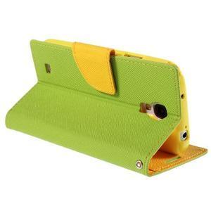 Sunny PU kožené pouzdro na mobil Samsung Galaxy S4 - zelené - 5