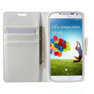 Diary PU kožené pouzdro na mobil Samsung Galaxy S4 - bílé - 5