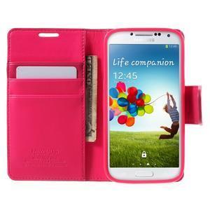 Diary PU kožené pouzdro na mobil Samsung Galaxy S4 - rose - 5