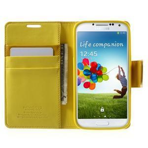 Diary PU kožené pouzdro na mobil Samsung Galaxy S4 - žluté - 5