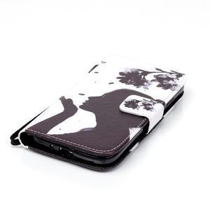 Knížkové koženkové pouzdro na Samsung Galaxy S4 - dívka - 5