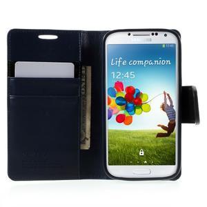 Diary PU kožené pouzdro na mobil Samsung Galaxy S4 - tmavěmodré - 5