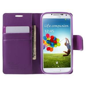 Diary PU kožené pouzdro na mobil Samsung Galaxy S4 - fialové - 5
