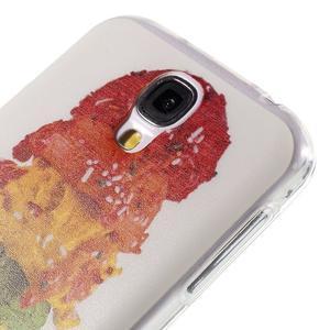 Ultratenký slim gelový obal na Samsung Galaxy S4 - zmrzlina - 5