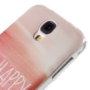 Ultratenký slim gelový obal na Samsung Galaxy S4 - be happy - 5