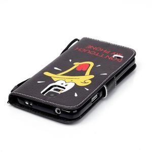 Knížkové koženkové pouzdro na Samsung Galaxy S4 - kačer - 5