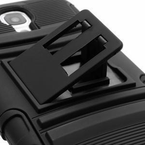 Odolný ochranný silikonový kryt na Samsung Galaxy S4 - černý - 5