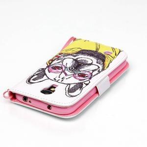 Knížkové koženkové pouzdro na Samsung Galaxy S4 - buldog - 5