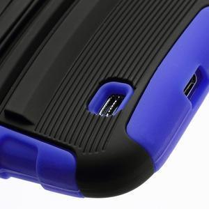 Odolný ochranný silikonový kryt na Samsung Galaxy S4 - modrý - 5