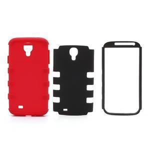 Extreme odolný gelový obal 2v1 na Samsung Galaxy S4 - červený - 5