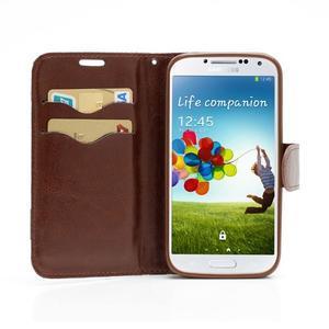 Květinové pouzdro na mobil Samsung Galaxy S4 - černé pozadí - 5