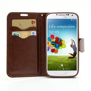 Květinové pouzdro na mobil Samsung Galaxy S4 - bílé pozadí - 5