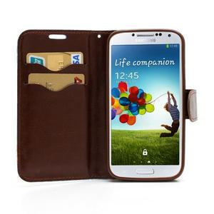Květinové pouzdro na mobil Samsung Galaxy S4 - modré pozadí - 5