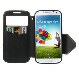 Okýnkové peněženkové pouzdro na mobil Samsung Galaxy S4 - žluté - 5
