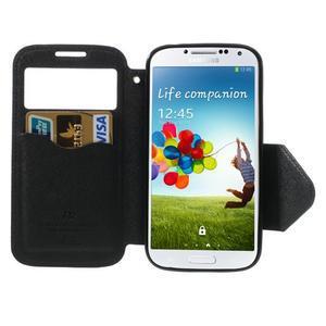Okýnkové peněženkové pouzdro na mobil Samsung Galaxy S4 - tmavěmodré - 5