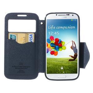 Okýnkové peněženkové pouzdro na mobil Samsung Galaxy S4 - fialové - 5