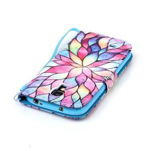 Diary peněženkové pouzdro na mobil Samsung Galaxy S4 mini - barevné lístky - 5