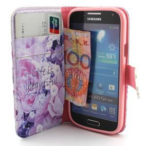 Diaryleather pouzdro na mobil Samsung Galaxy S4 mini - beatiful - 5