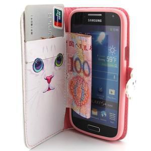 Diaryleather pouzdro na mobil Samsung Galaxy S4 mini - kočička - 5