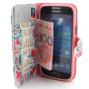 Diaryleather pouzdro na mobil Samsung Galaxy S4 mini - Shakespeare - 5