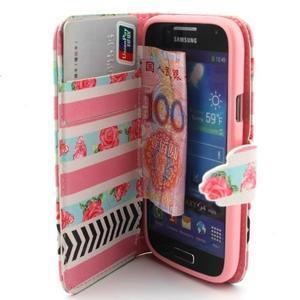 Diaryleather pouzdro na mobil Samsung Galaxy S4 mini - růže - 5