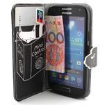 Diaryleather pouzdro na mobil Samsung Galaxy S4 mini - kočička čte - 5/7