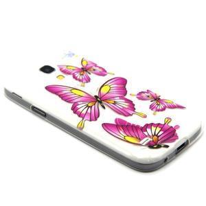 Transparentní gelový obal na Samsung Galaxy S4 mini - motýlci - 5