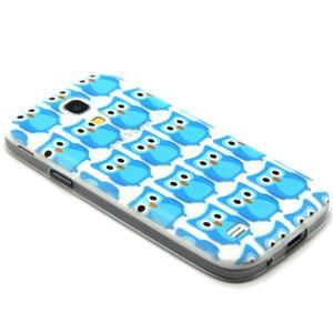 Transparentní gelový obal na Samsung Galaxy S4 mini - modré sovičky - 5