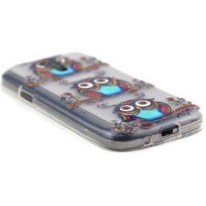 Transparentní gelový obal na Samsung Galaxy S4 mini - sovičky - 5