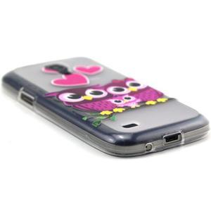 Transparentní gelový obal na Samsung Galaxy S4 mini - soví rodinka - 5