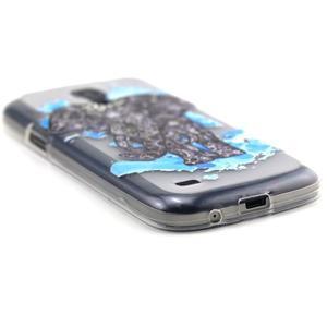 Transparentní gelový obal na Samsung Galaxy S4 mini - slon - 5