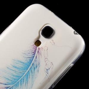 Gelový obal na mobil Samsung Galaxy S4 mini - peříčko - 5