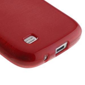 Brushed gelový obal na mobil Samsung Galaxy S4 mini - červený - 5