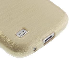 Brushed gelový obal na mobil Samsung Galaxy S4 mini - zlatý - 5
