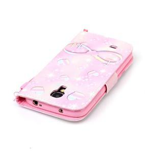Diary peněženkové pouzdro na mobil Samsung Galaxy S4 mini - láska - 5
