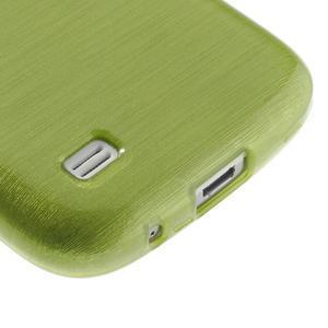 Brushed gelový obal na mobil Samsung Galaxy S4 mini - zelený - 5