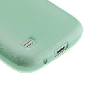 Brushed gelový obal na mobil Samsung Galaxy S4 mini - azurový - 5