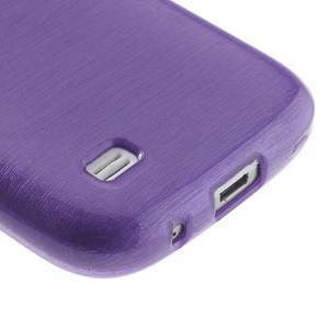 Brushed gelový obal na mobil Samsung Galaxy S4 mini - fialový - 5