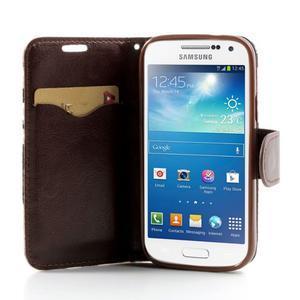 Květinkové pouzdro na mobil Samsung Galaxy S4 mini - modré pozadí - 5
