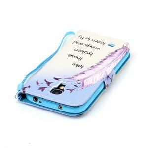 Diary peněženkové pouzdro na mobil Samsung Galaxy S4 mini - ptáčci - 5