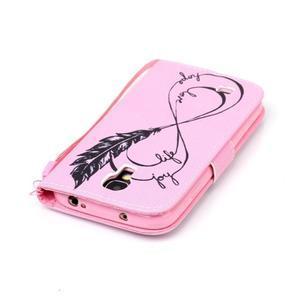 Diary peněženkové pouzdro na mobil Samsung Galaxy S4 mini - love - 5