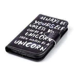 Emotive peněženkové pouzdro na Samsung Galaxy S4 mini - unicorn - 5