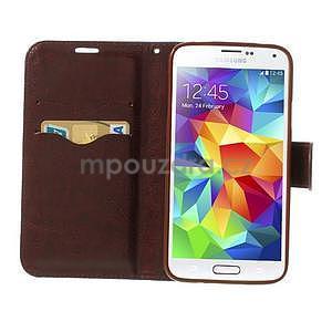 Jeans peněženkové pouzdro na mobil Samsung Galaxy S5 - černomodré - 5