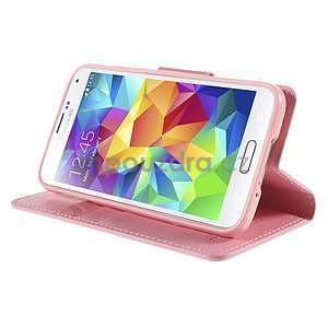 Elegantní peněženkové pouzdro na Samsung Galaxy S5 - růžové - 5