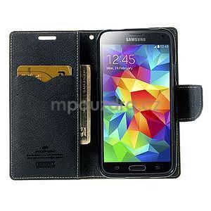 Diary peněženkové pouzdro na Samsung Galaxy S5 - zelené - 5