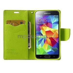 Diary peněženkové pouzdro na Samsung Galaxy S5 - tmavěmodré - 5